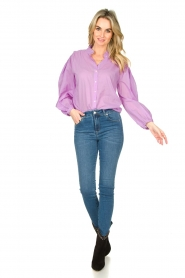 Lois Jeans |  L34 high waist skinny with split Celia | blue  | Picture 3