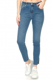 Lois Jeans |  L34 high waist skinny with split Celia | blue  | Picture 5