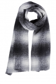 Set |  Checkered scarf Mex | grey  | Picture 1
