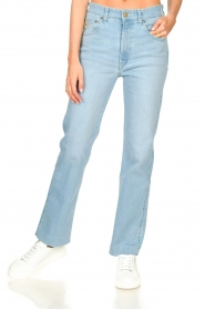 Lois Jeans :  High waisted straight leg jeans River | blue - img5