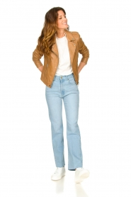 Lois Jeans :  High waisted straight leg jeans River | blue - img2