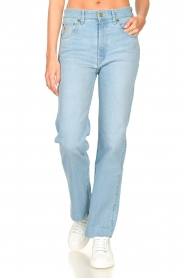 Lois Jeans :  High waisted straight leg jeans River | blue - img4