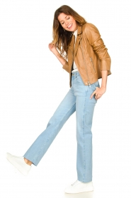 Lois Jeans :  High waisted straight leg jeans River | blue - img3