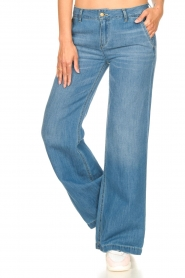 Lois Jeans |  Wide leg jeans L32 New Sia | blue  | Picture 4