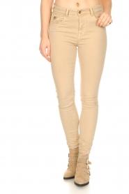 Lois Jeans |  L34 high waist skinny jeans Celia | beige  | Picture 4