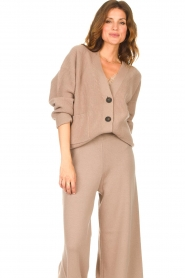 Set |  Knitted cardigan Mella | brown  | Picture 2