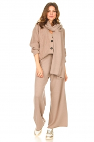 Set |  Knitted cardigan Mella | brown  | Picture 3