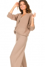 Set |  Knitted cardigan Mella | brown  | Picture 5