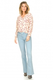 Lois Jeans |  L32 High waist flared jeans Raval | light blue  | Picture 3
