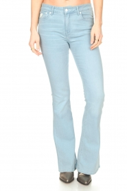 Lois Jeans |  L32 High waist flared jeans Raval | light blue  | Picture 5