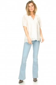 Lois Jeans |  L32 High waist flared jeans Raval | light blue  | Picture 4