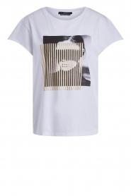 Set | T-shirt met opdruk May | wit  | Afbeelding 1
