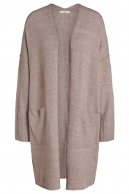 Set |  Long knitted cardigan Janey | brown  | Picture 1