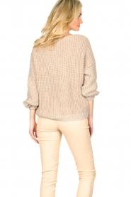 Set |  Knitted openwork sweater Noor | beige   | Picture 6