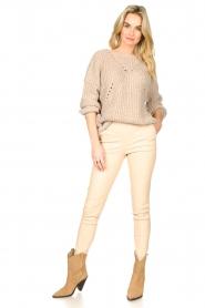 Set |  Knitted openwork sweater Noor | beige   | Picture 3