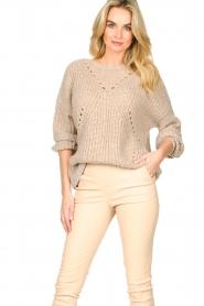 Set |  Knitted openwork sweater Noor | beige   | Picture 4