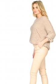 Set |  Knitted openwork sweater Noor | beige   | Picture 5