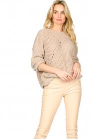 Set |  Knitted openwork sweater Noor | beige   | Picture 2