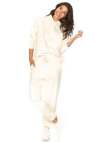 Set |  Basic sweatpants Maya | white  | Picture 3