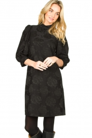 Set |  Dress with floral pattern Lizzy | black  | Picture 4
