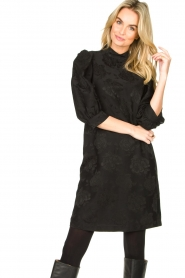 Set |  Dress with floral pattern Lizzy | black  | Picture 2
