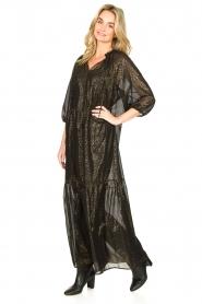 Set    Lurex maxi dress Gigi   black    Picture 4