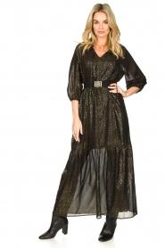 Set    Lurex maxi dress Gigi   black    Picture 2