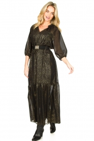 Set    Lurex maxi dress Gigi   black    Picture 3