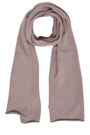 Set |  Knitted scarf Omea | brown  | Picture 1