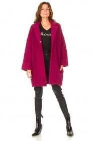 Liu Jo |  Long knitted cardigan Maglia | pink  | Picture 3