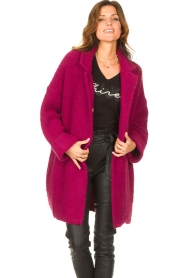 Liu Jo |  Long knitted cardigan Maglia | pink  | Picture 4