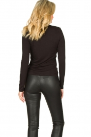 Set |  Stretch top with sheer details Nina | black  | Picture 6