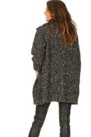 Liu Jo |  Long knitted cardigan with lurex | black  | Picture 6