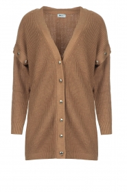 Liu Jo    Knitted cardigan with golden details Mirthe   camel    Picture 1