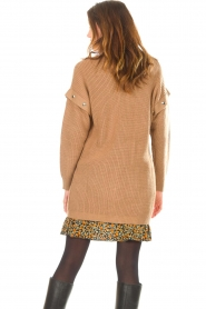 Liu Jo    Knitted cardigan with golden details Mirthe   camel    Picture 6