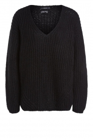 Set |  Chunky knitted sweater Saar | black  | Picture 1