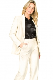Set |  Long blazer Fee | white  | Picture 2
