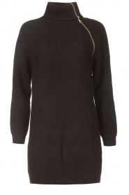 Liu Jo |  Knitted dress with zipper detail Pia | black  | Picture 1