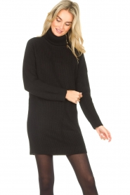 Liu Jo |  Knitted dress with zipper detail Pia | black  | Picture 6