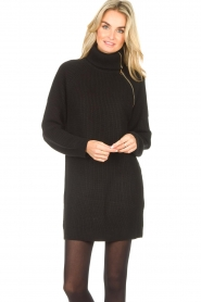 Liu Jo |  Knitted dress with zipper detail Pia | black  | Picture 4