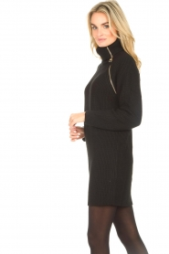 Liu Jo |  Knitted dress with zipper detail Pia | black  | Picture 7