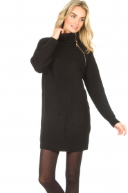 Liu Jo |  Knitted dress with zipper detail Pia | black  | Picture 5