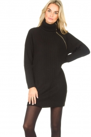 Liu Jo |  Knitted dress with zipper detail Pia | black  | Picture 2