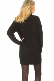 Liu Jo |  Knitted dress with zipper detail Pia | black  | Picture 8