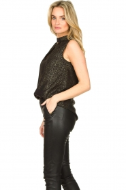 Set |  Sleeveless lurex top Jaelle | black  | Picture 4