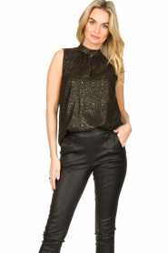 Set |  Sleeveless lurex top Jaelle | black  | Picture 2