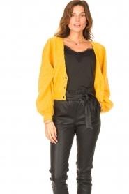 Liu Jo |  Knitted cardigan Jara | yellow  | Picture 2