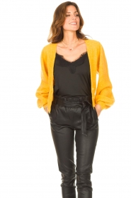 Liu Jo |  Knitted cardigan Jara | yellow  | Picture 4