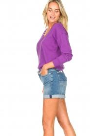 Les Favorites |  Basic cotton sweater Day | purple  | Picture 6