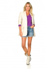 Les Favorites |  Basic cotton sweater Day | purple  | Picture 3